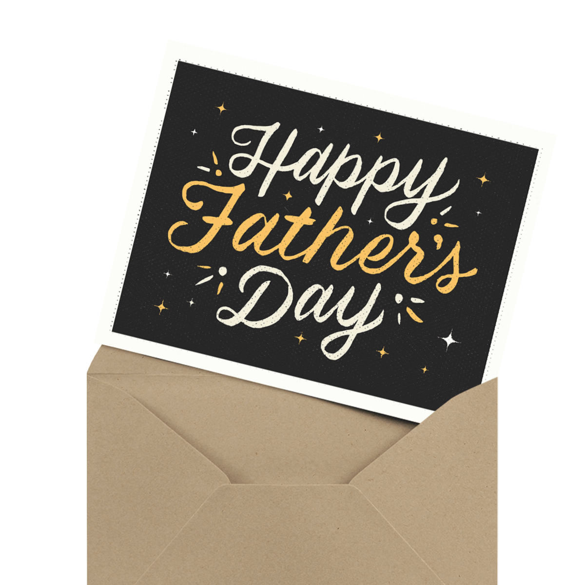 cute photo father's day card in envelope