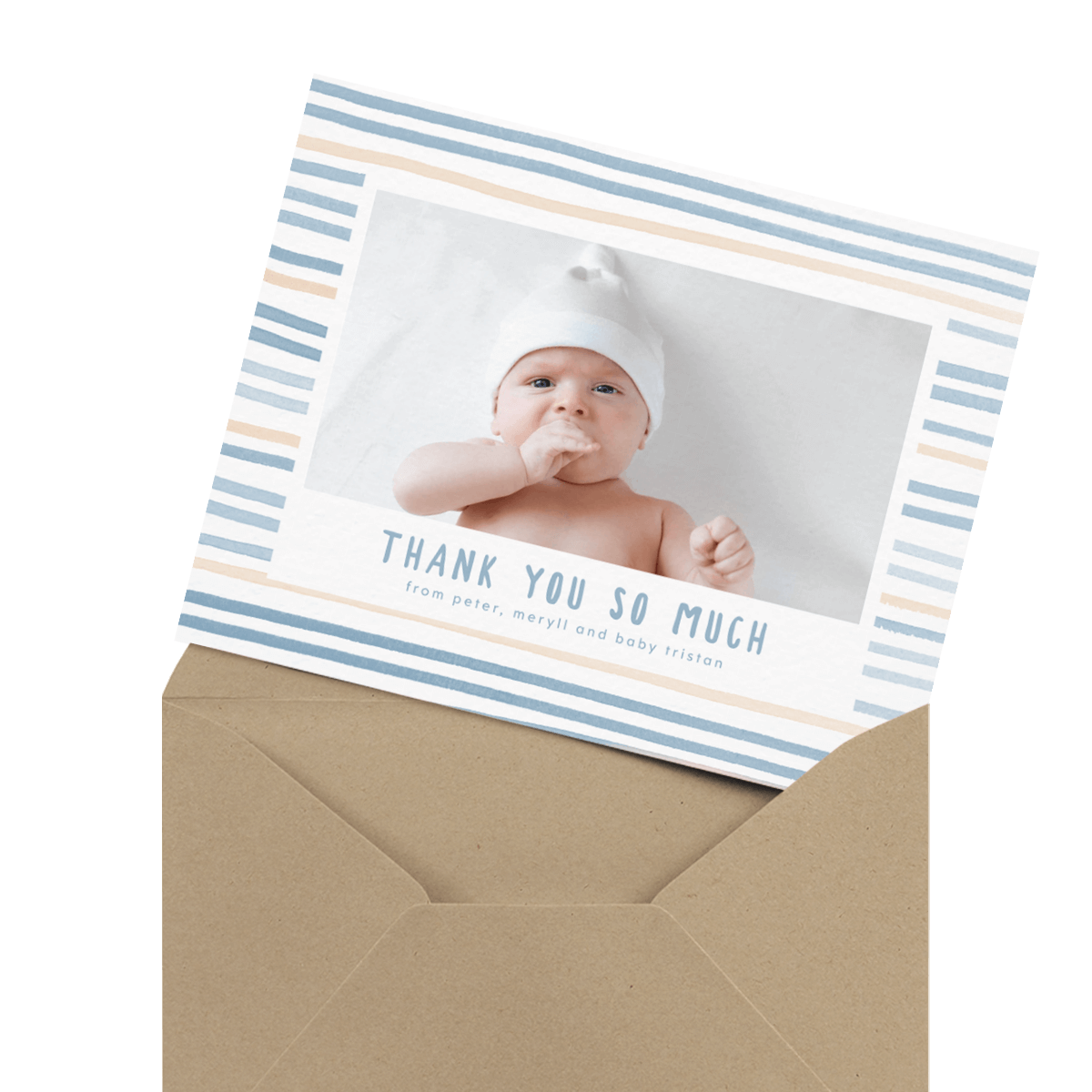 757106bff30 Baby Shower Thank You Cards — Mailed For You