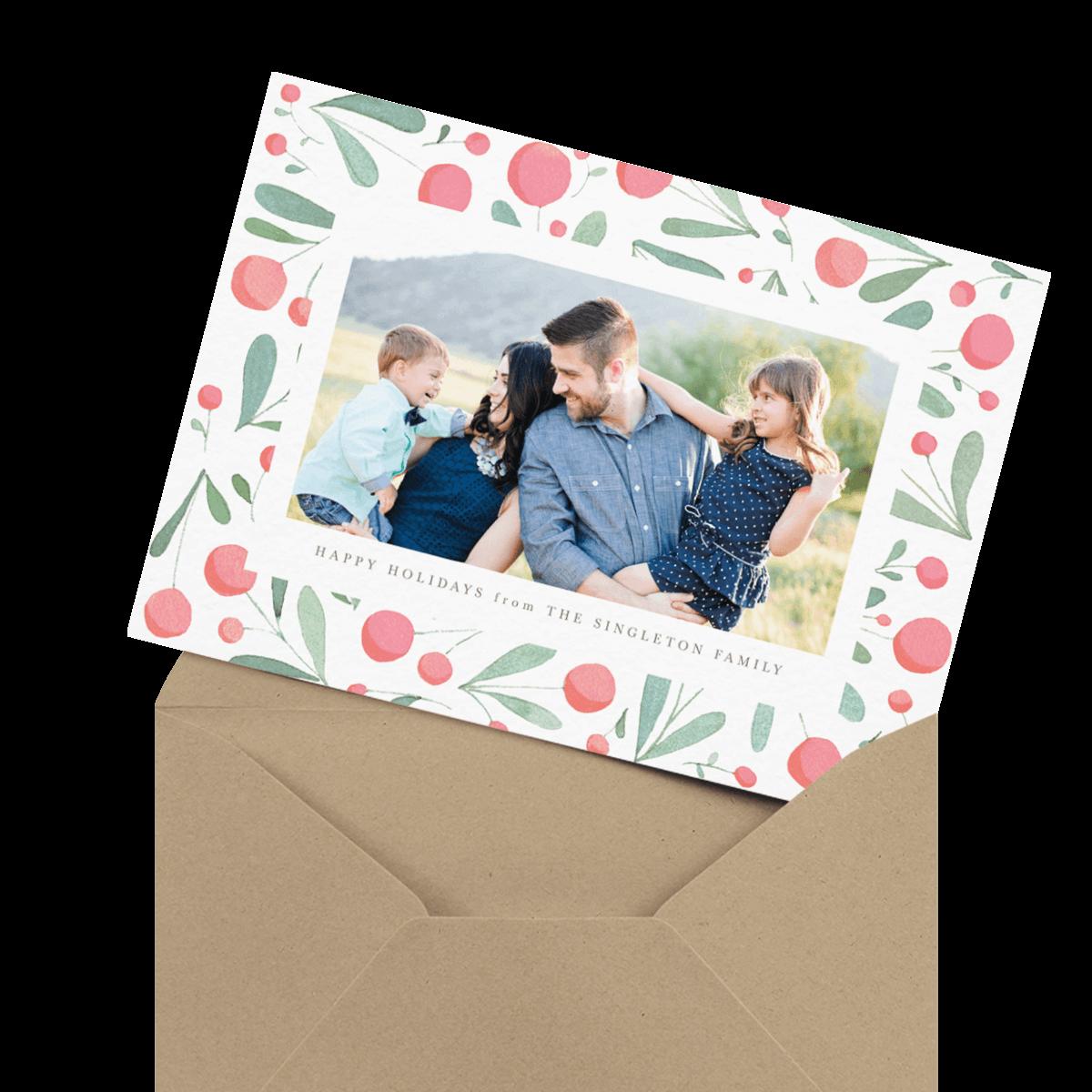 colorful lights bordered seasons greetings card