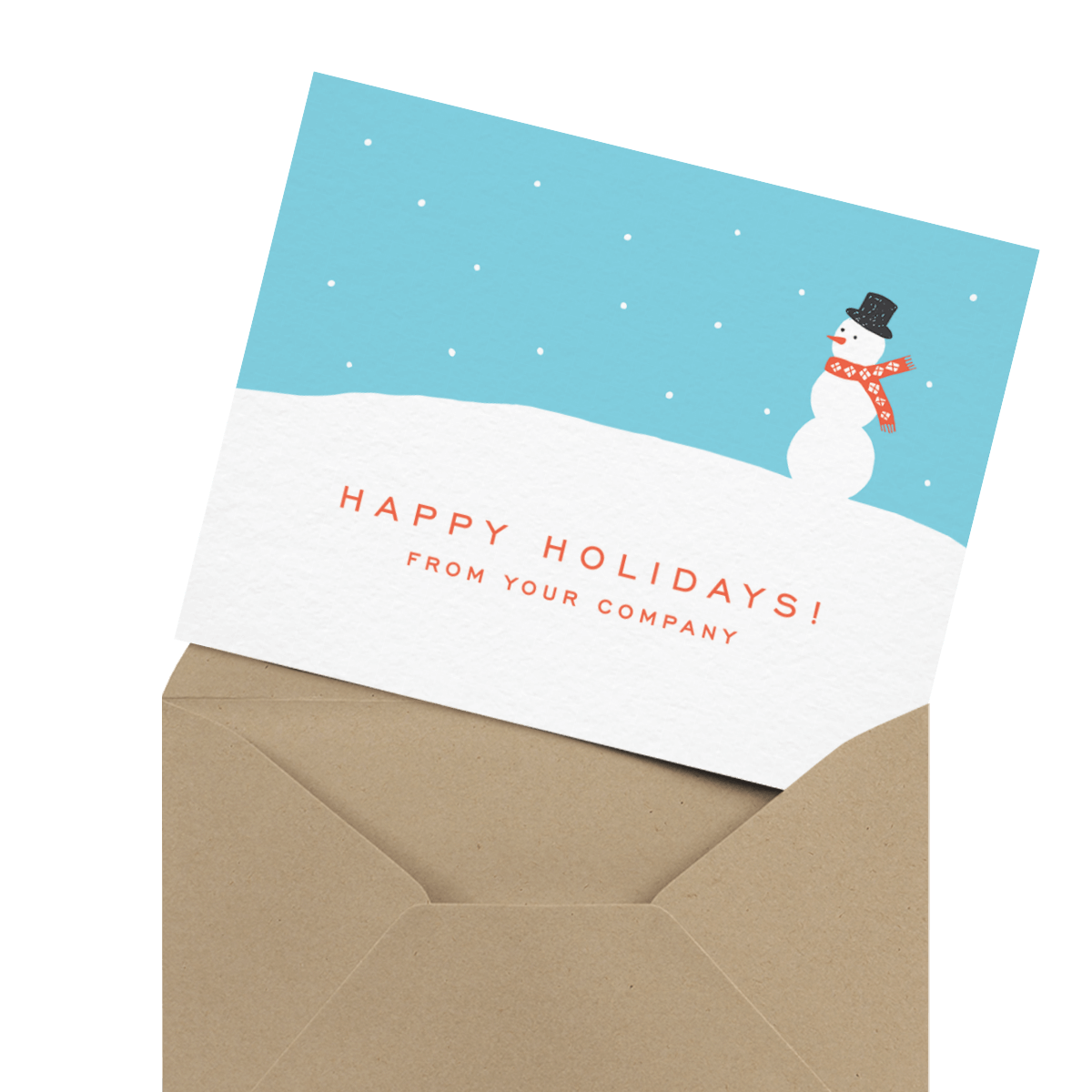 ornament company holiday card