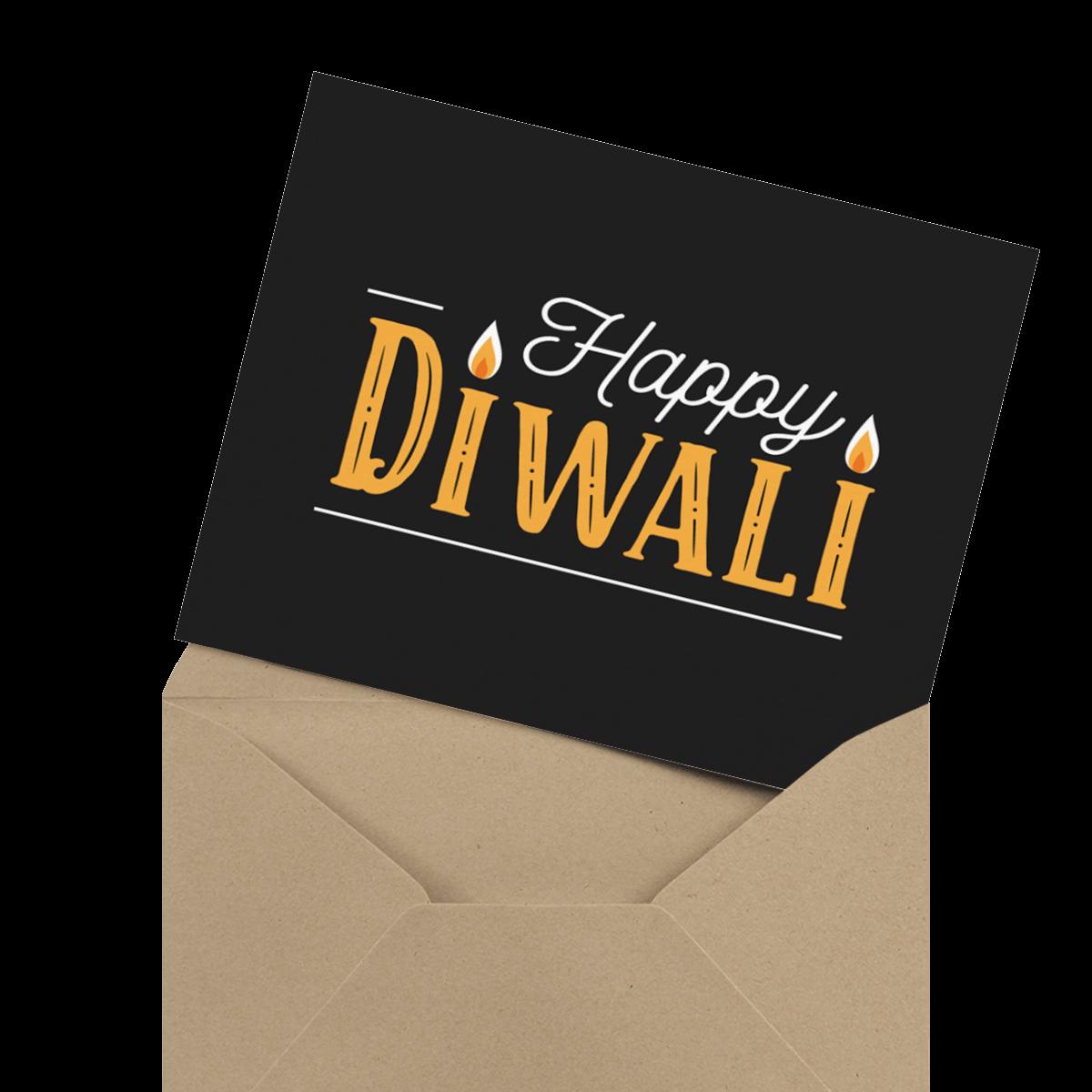 beautiful diwali card