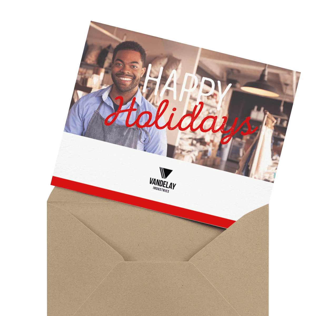 business logo greeting card