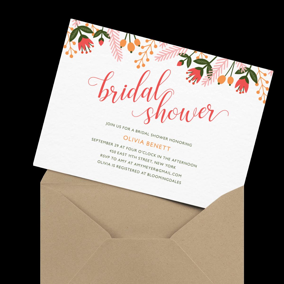 pink chic custom bridal shower invite
