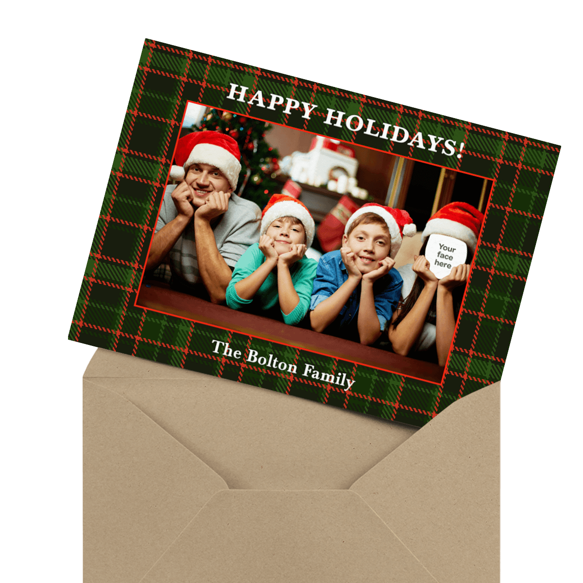 funny holiday card for singles