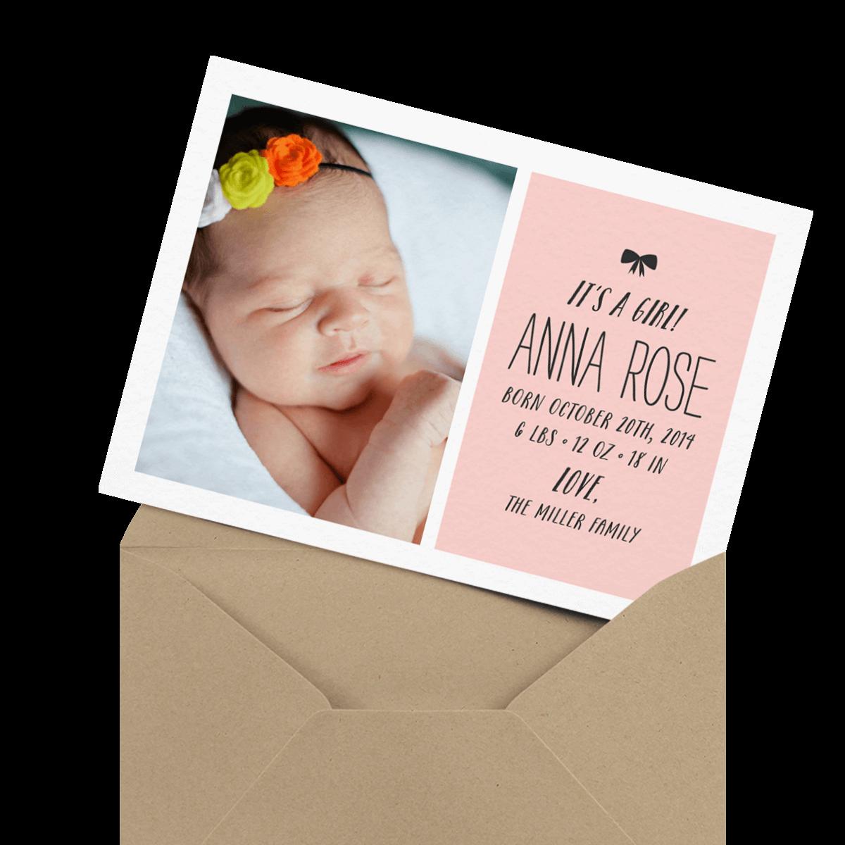 adorable custom photo baby card