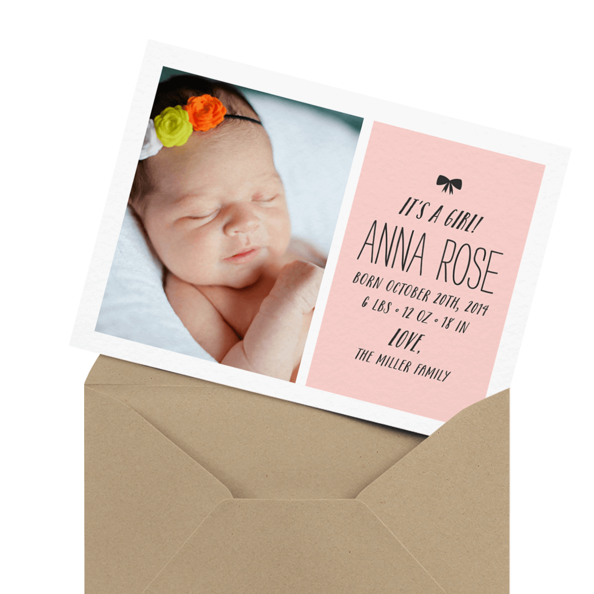 adorable custom photo baby card