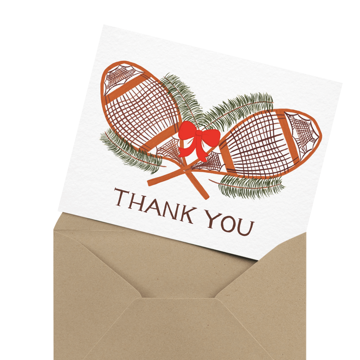 christmas lights holiday thank you card