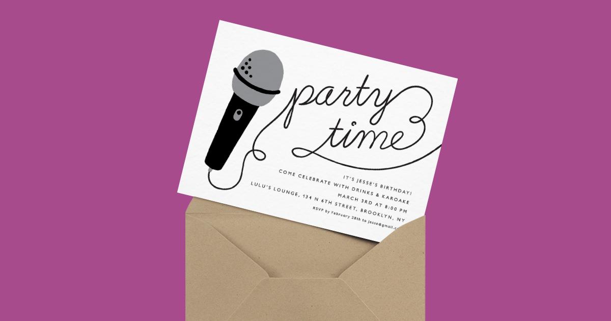 Karaoke Time Invite By Postable Postable