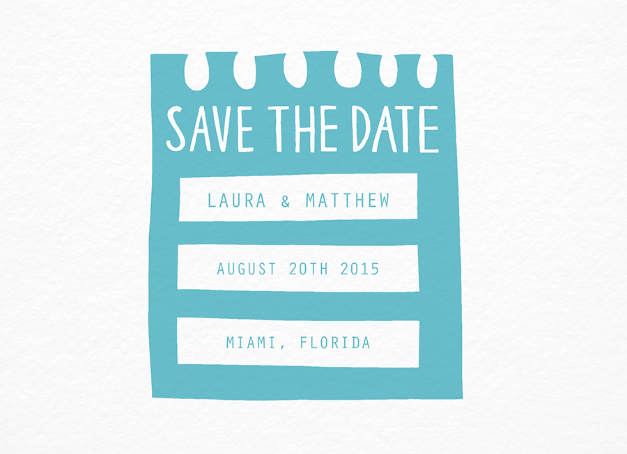 Trendy Hand Drawn Save The Date
