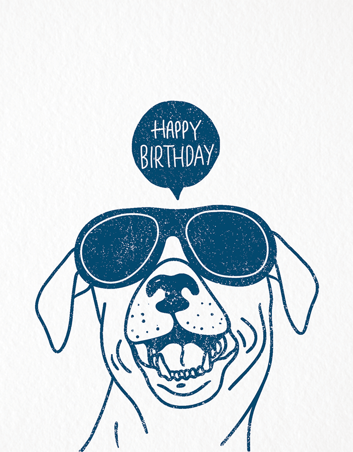 Playful Dog Birthday Card