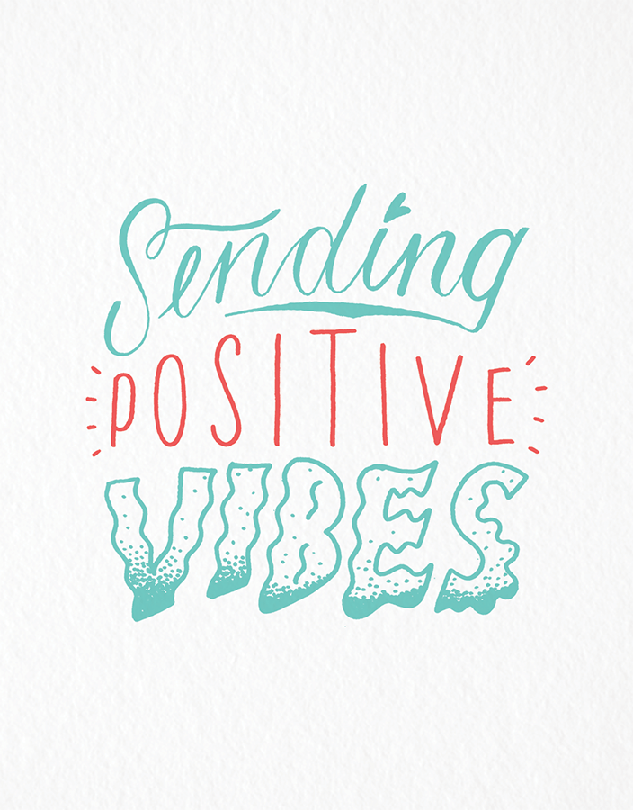 Sending Positive Vibes Good Luck Card