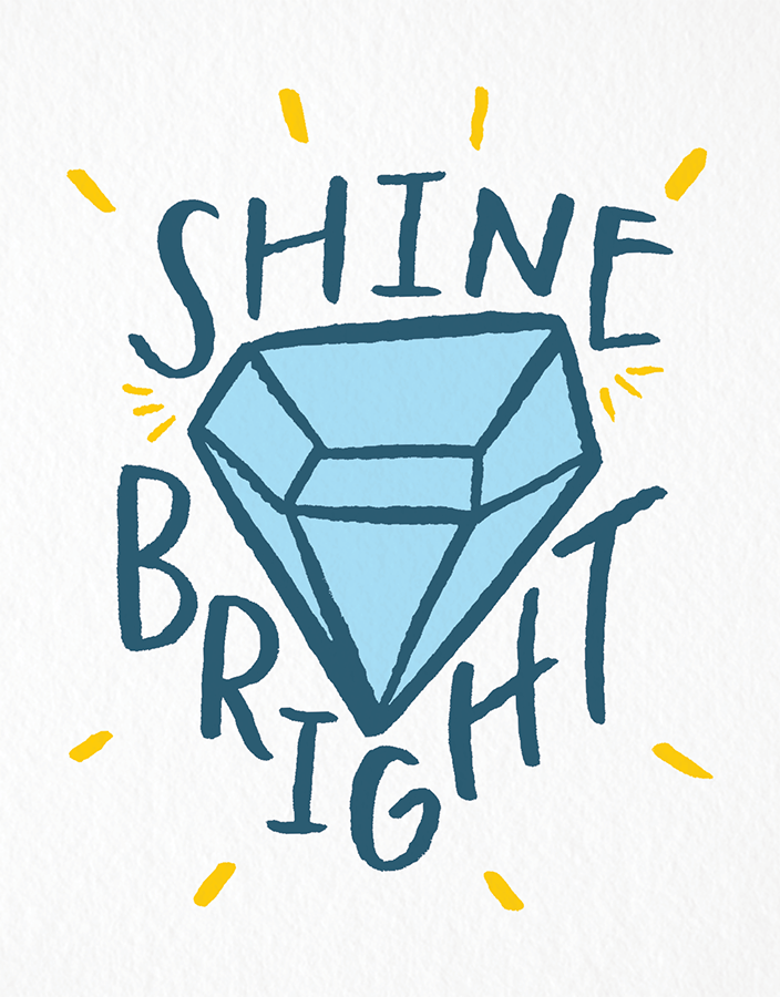 Stylish Shine Bright Congrats Card
