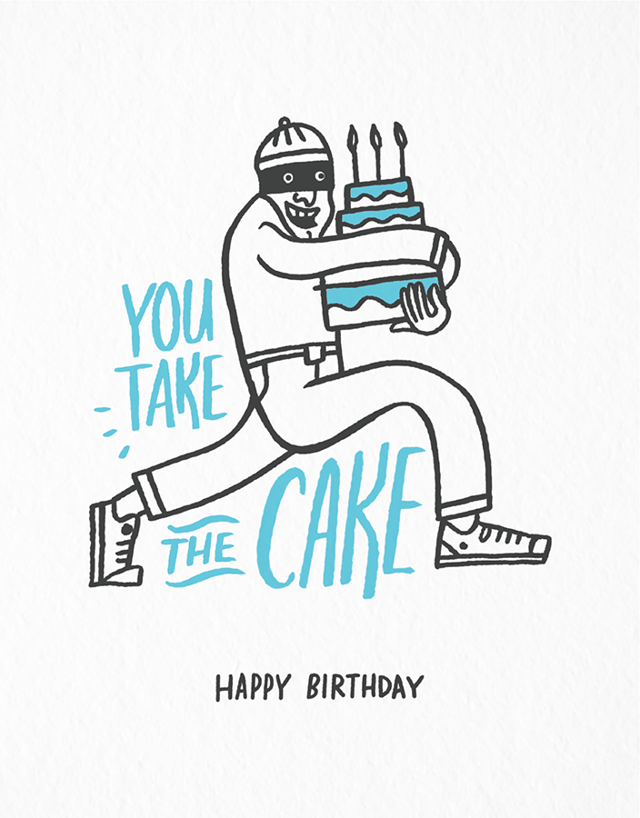Hand Drawn Pun Birthday Card