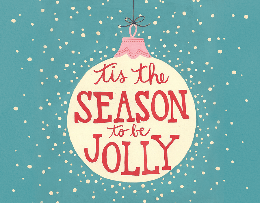 Cheerful Winter Holiday Card