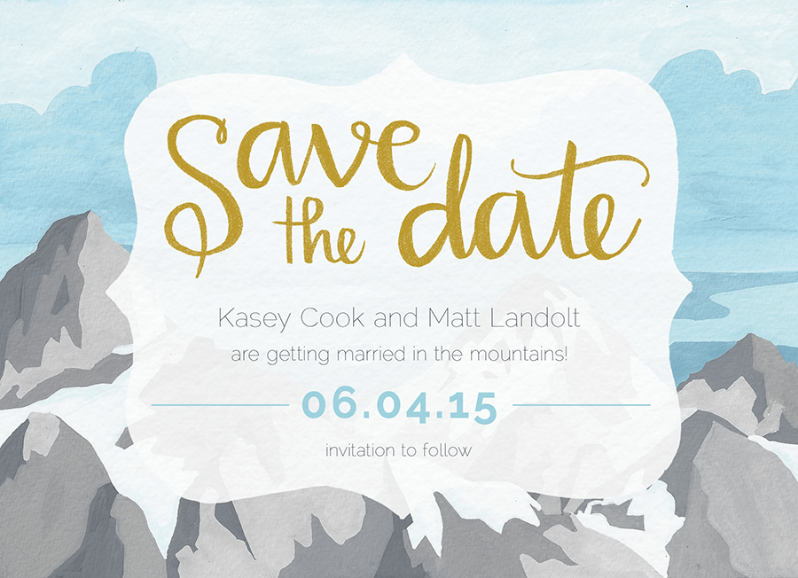 Mountains Save the date