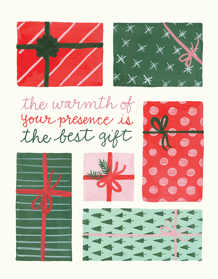 Painted Presents Holiday Card