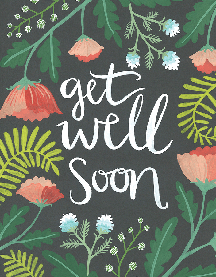 Get well soon cards postable painted jungle get well soon card m4hsunfo Choice Image