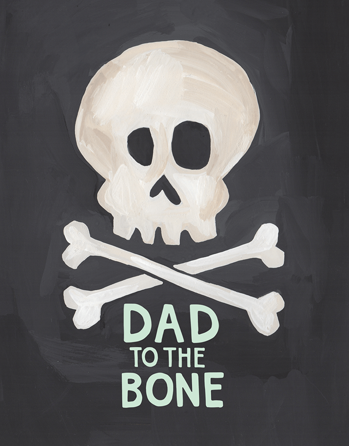 Witty Skeleton Father's Day Card