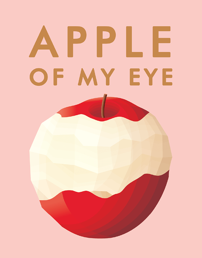 Pink Apple of My Eye Love Card