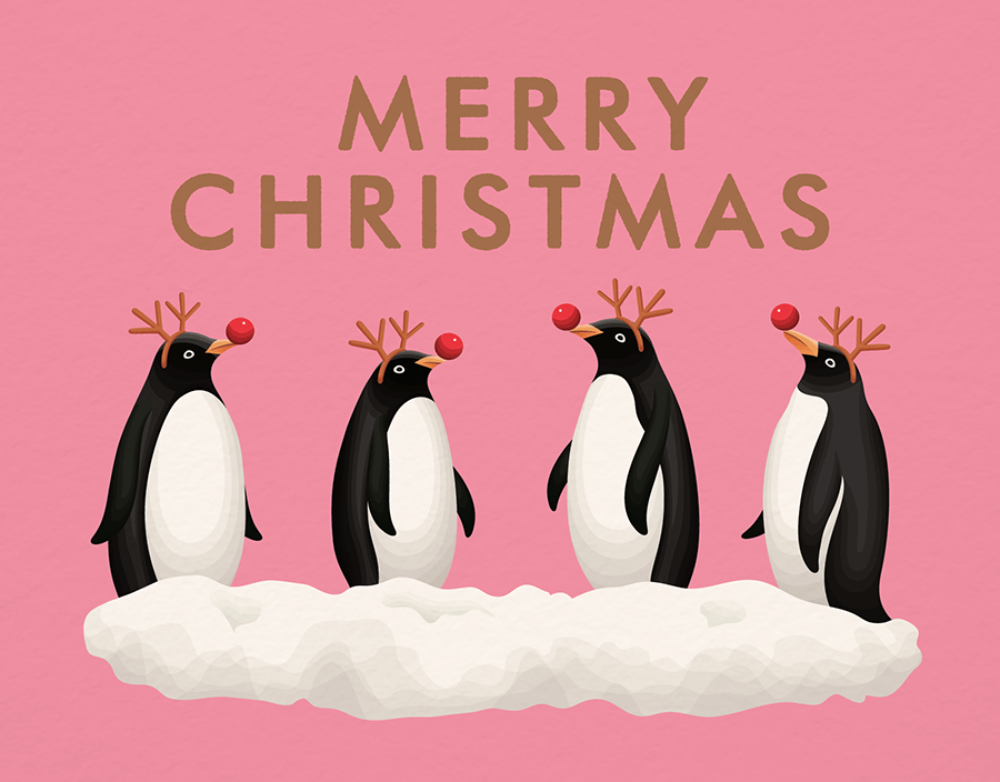 Pink Penguin Christmas