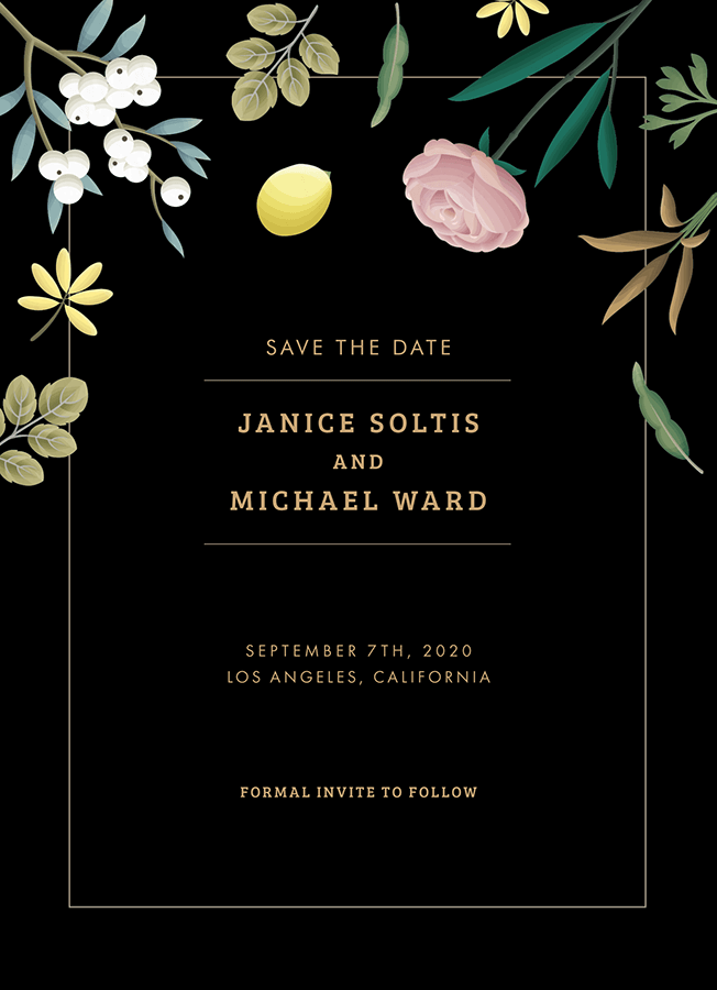 Elegant Garden Save The Date
