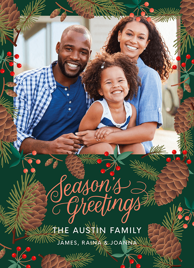 Season's Greetings Pinecones