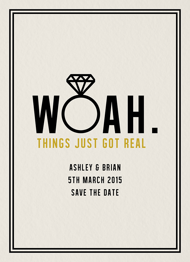 Woah Save The Date By Daydream Prints Postable