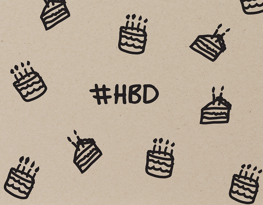 Hashtag HBD Birthday Greeting Card