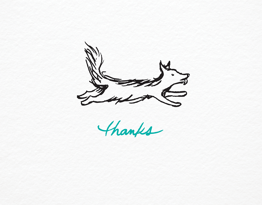 Simple Dog Thanks Greeting Card