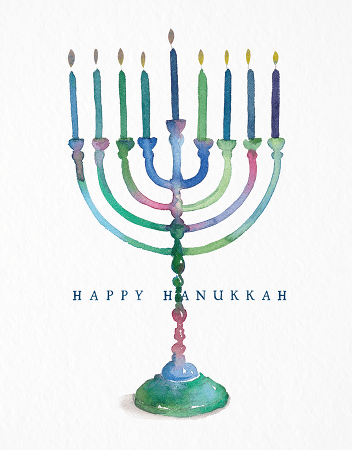 Painted Menorah