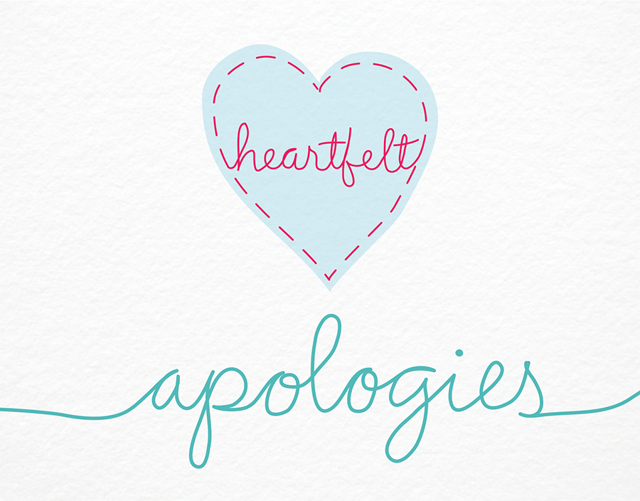 Heartfelt Apologies I'm sorry Card
