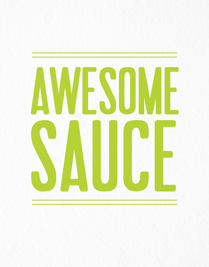 Bold Awesome Sauce Congrats Card