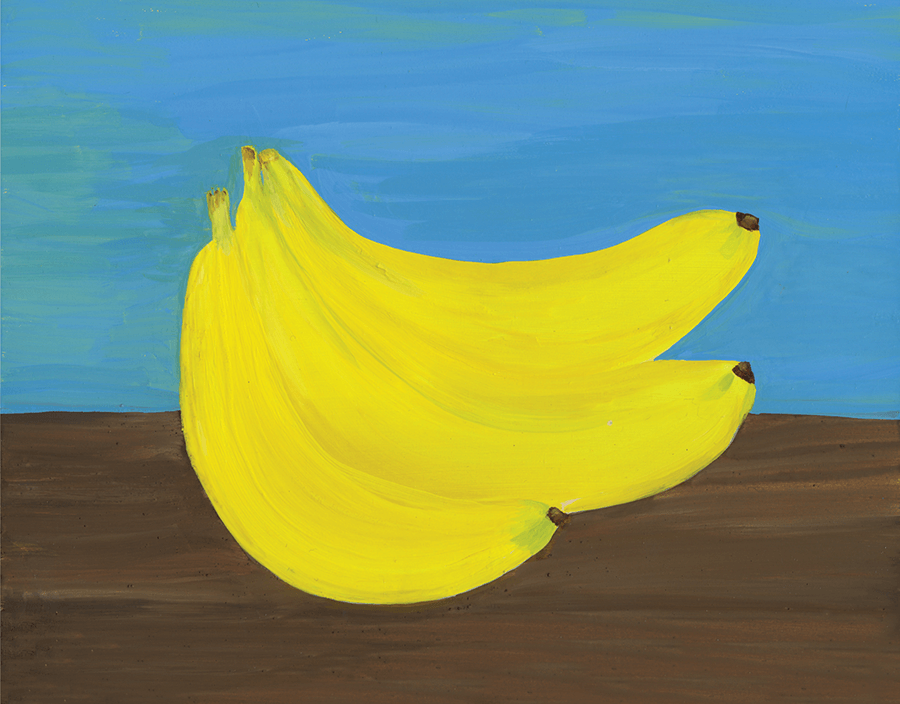 Painted Bananas Everyday Card