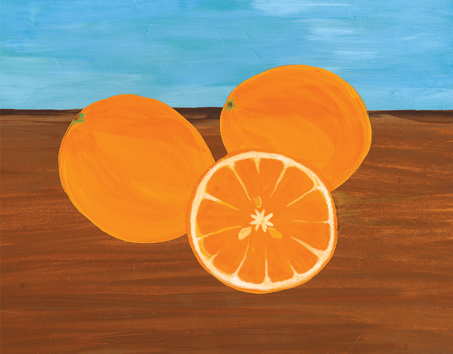Bright Oranges Art Card