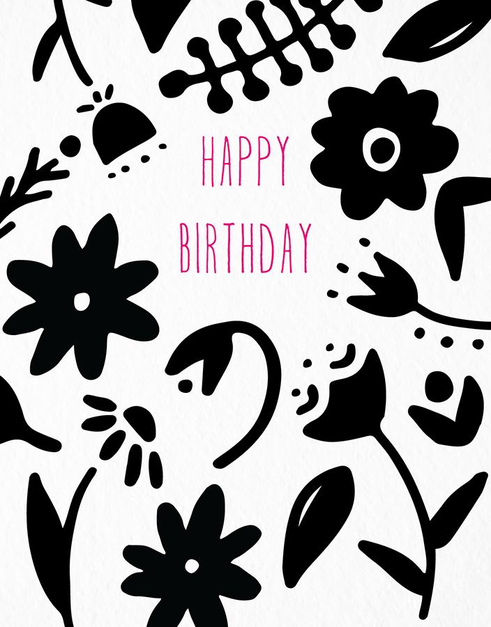 Birthday Black Flowers