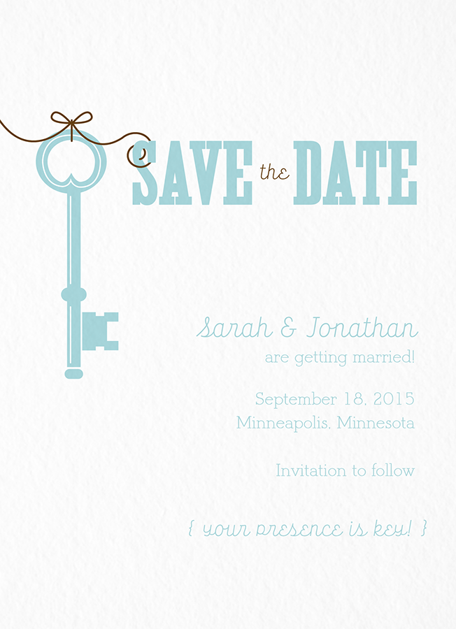 Whimsy Key Save The Date