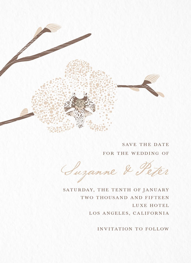 Orchid Save the date