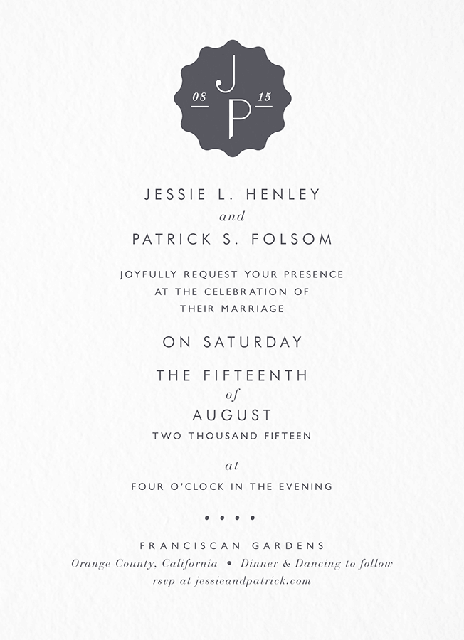 Pop Deco Invitation