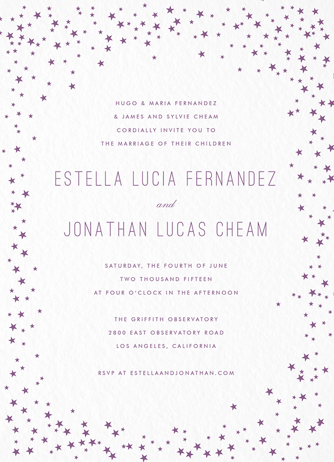 Shooting Star Invitation