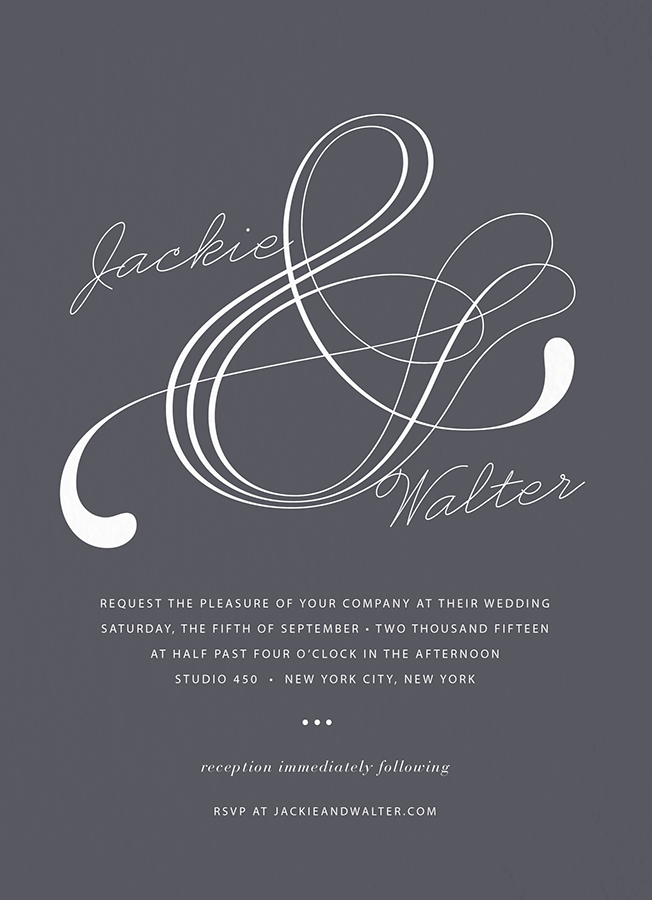 Atlantic Wedding Invitation