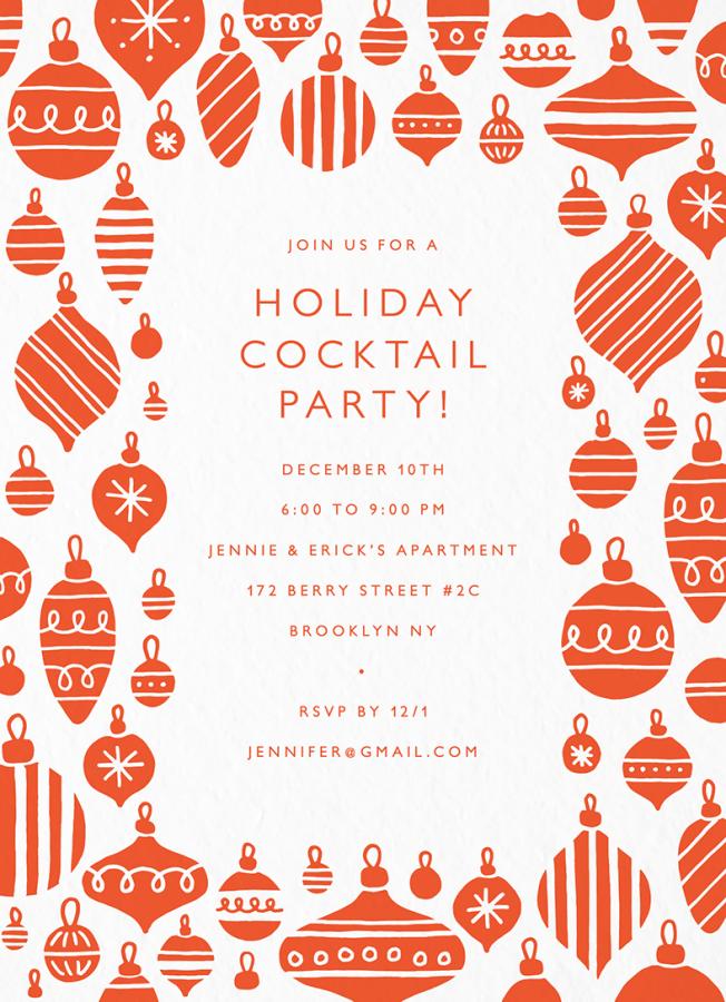 Ornaments Invite