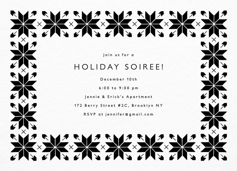 Snowflake Pattern Invite