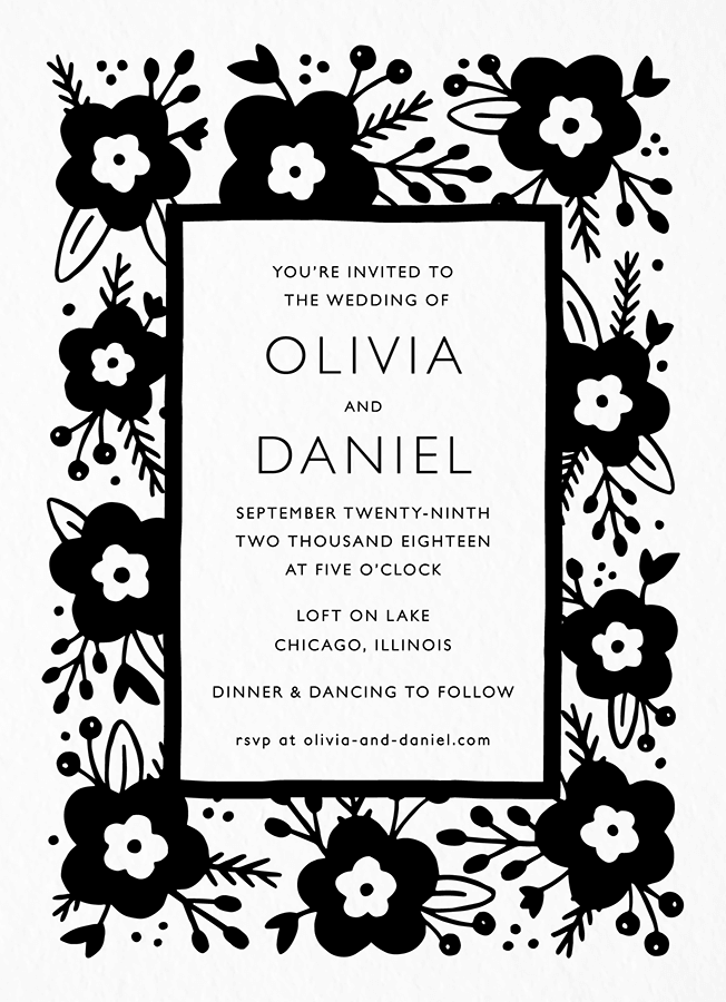 Lovely Floral Invitation