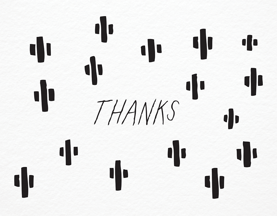 Cactus Illustration Thanks Greeting