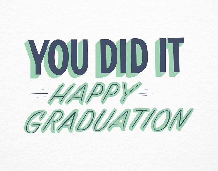 Trendy You Did It Graduation Congratulations Card