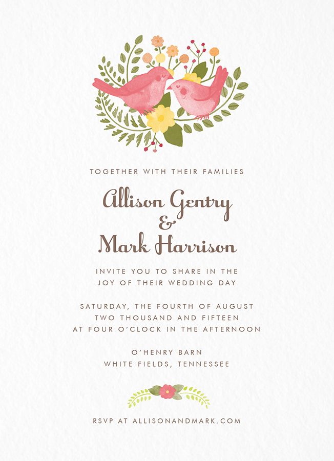 Flora and Fauna Invitation