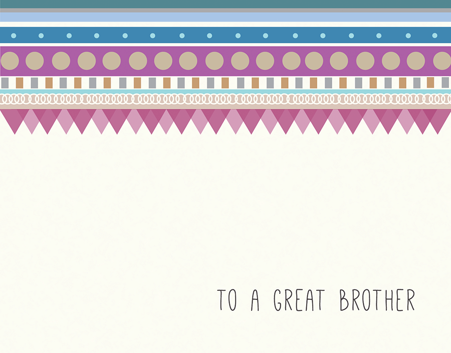 Cute Bridal Party Card for Brother