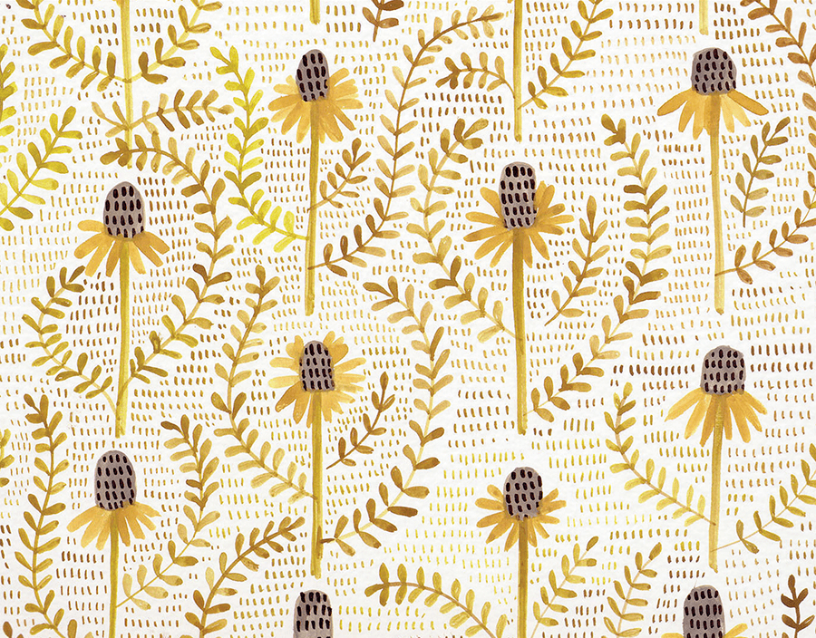 Straw Flowers Stationery