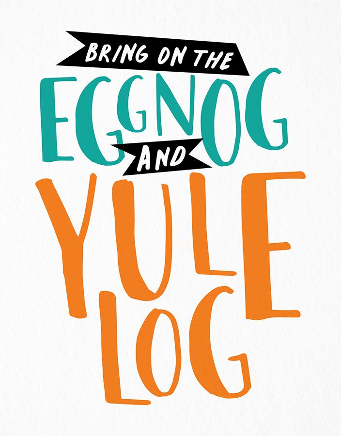 Eggnog And Yule Log