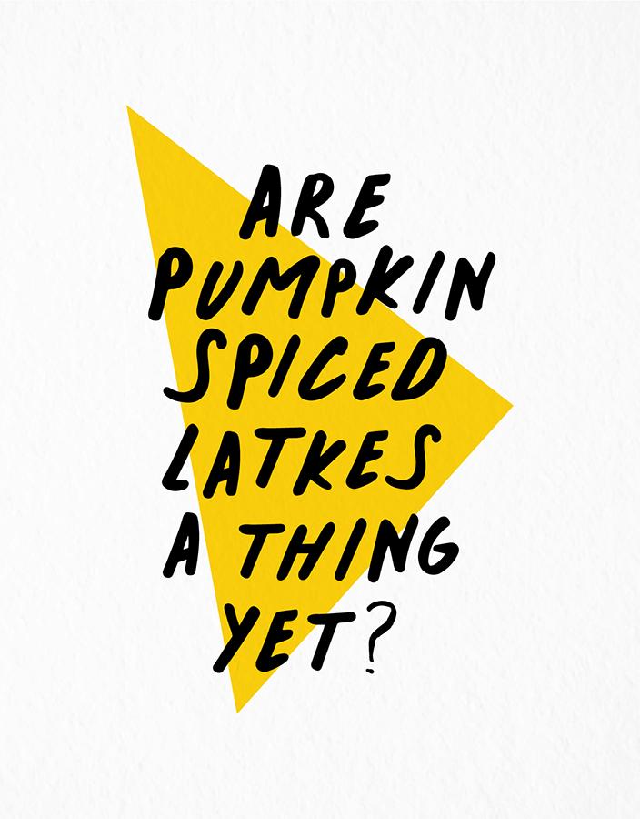 Pumpkin Spiced Latkes